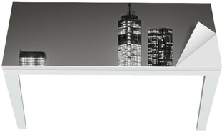 Cobertura para Mesa e Escrivaninha New York by night. Brooklyn Bridge, Lower Manhattan – Black an