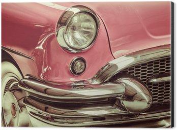 Cuadro en Dibond Imagen de estilo retro de un frente de un coche clásico