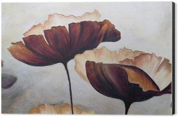 Cuadro en Dibond La pintura abstracta de la amapola