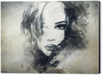 Cuadro en Dibond Retrato de mujer abstracta