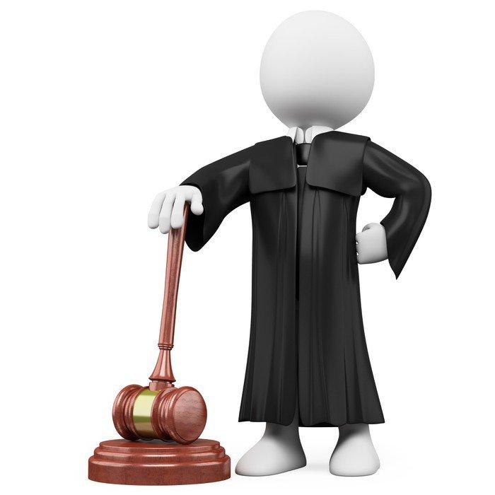 Cuadro en Lienzo 3D juez con toga y martillo - Gente trabajando