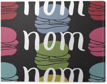 Cuadro en Lienzo Alimentos tarjeta de la cita tipográfica