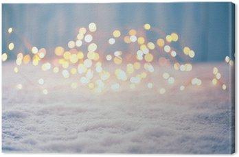 Cuadro en Lienzo Antecedentes Bokeh de la Navidad