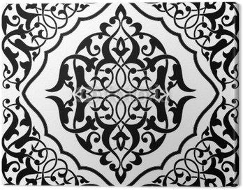 Cuadro en Lienzo Arabesque Tile Blanco y Negro