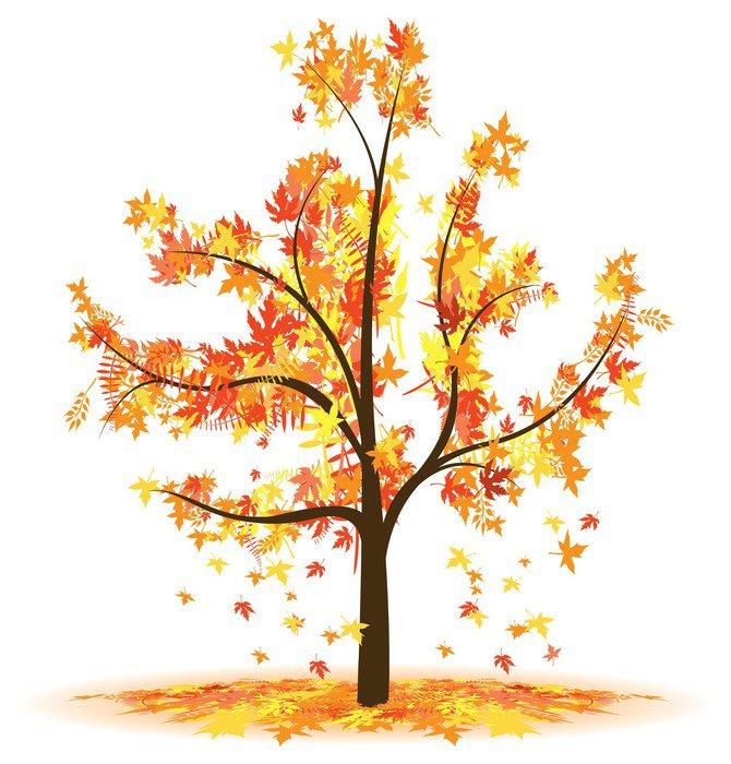 Cuadro en lienzo rbol de las hojas de oto o cayendo for Arboles que no pierden sus hojas en otono