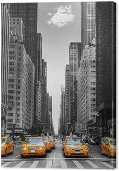 Cuadro en Lienzo Avenida de los taxis en Nueva York.