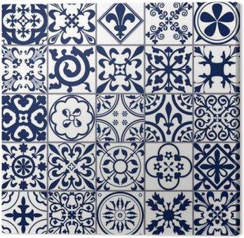 Cuadro en Lienzo Azulejos marroquíes Patrón sin fisuras A