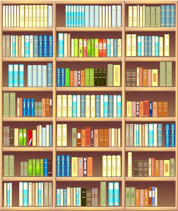 cuadro en lienzo biblioteca completa de los diferentes libros de colores biblioteca