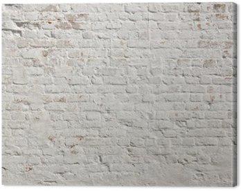 Cuadro en Lienzo Blanco grunge ladrillo la pared de fondo