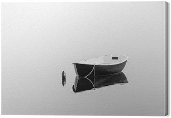 Cuadro en Lienzo Bote de remos negro