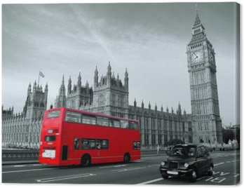 Cuadro en Lienzo Bus en Londres