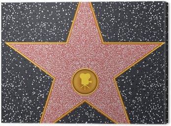 Cuadro en Lienzo Cámara de cine clásico Star (Hollywood Paseo de la Fama)