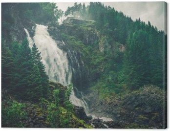 Cuadro en Lienzo Cascada escénica de Noruega