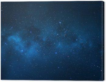 Cuadro en Lienzo Cielo nocturno - Universo lleno de estrellas, nebulosas y galaxias