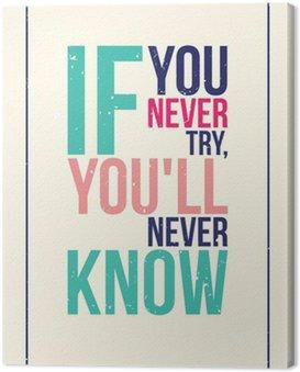Cuadro en Lienzo Colorido cartel motivación inspiración. Estilo grunge