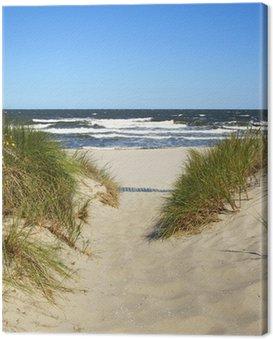 Cuadro en Lienzo Der Weg zum Strand