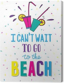 Cuadro en Lienzo Dibujado a mano cartel de verano con cotización