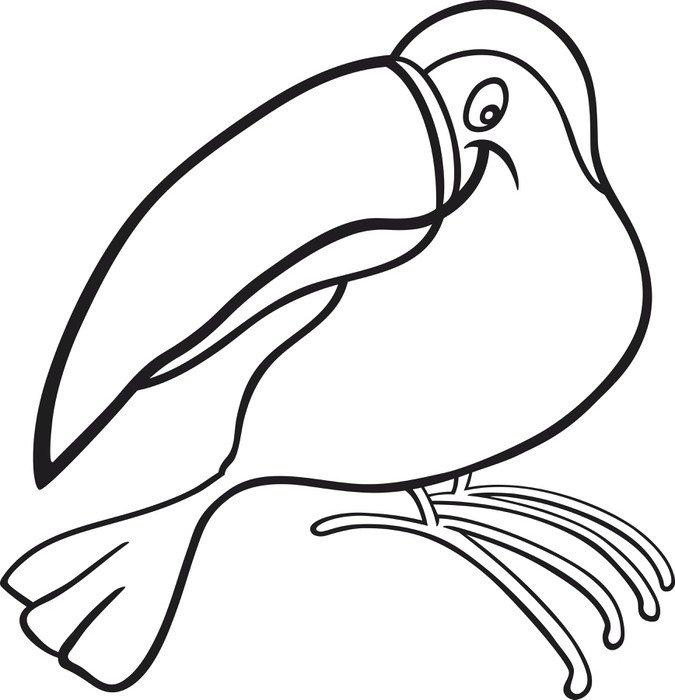Cuadro en Lienzo Dibujos animados para tucn libro para colorear