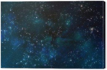 Cuadro en Lienzo El espacio profundo exterior o cielo nocturno estrellado