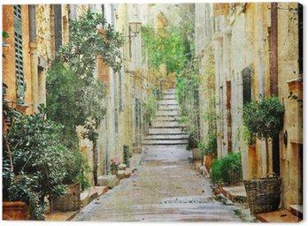 Cuadro en Lienzo Encantadoras calles del mediterráneo, imagen artística
