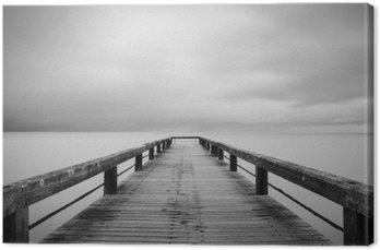 Cuadro en Lienzo Esposizione lunga en bianco e nero