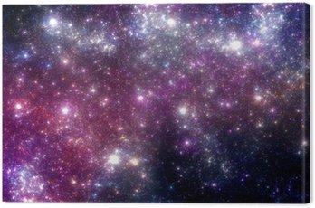 Cuadro en Lienzo Estrellas de fondo. Galaxia púrpura.