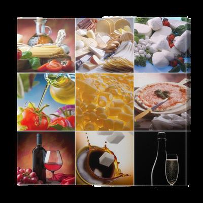 cuadro en lienzo food collage los diferentes tipos de comida italiana u pixers vivimos para cambiar