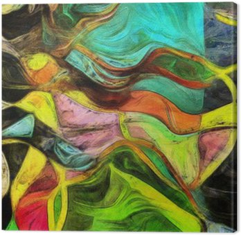 Cuadro en Lienzo Formas de remolino, Color y líneas