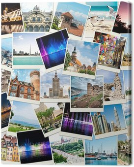 Cuadro en Lienzo Fotos de viajes a diferentes países