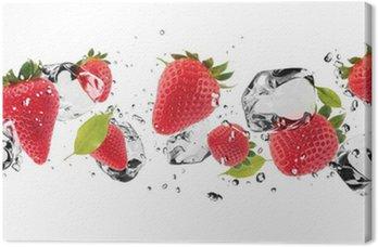 Cuadro en Lienzo Fruta hielo en el fondo blanco
