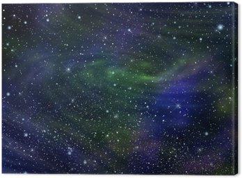 Cuadro en Lienzo Galaxia de la imagen del espacio, ilustración