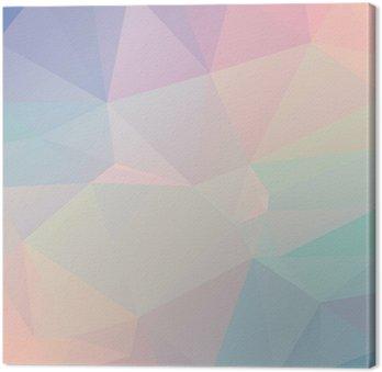 Cuadro en Lienzo Geométrico del polígono en colores pastel