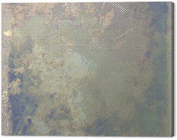 Cuadro en Lienzo Grunge fondo de colores. Con diferentes patrones de color: amarillo (beige); marrón; azul; gris