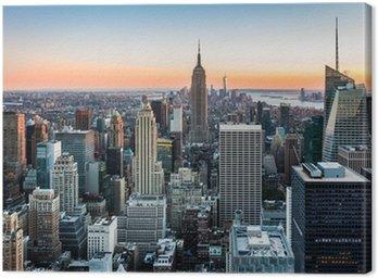 Cuadro en Lienzo Horizonte de Nueva York al atardecer