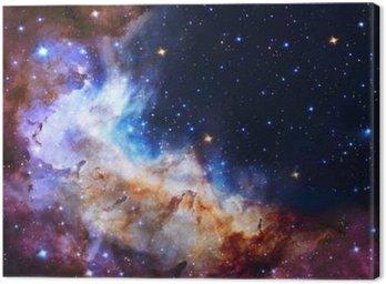 Cuadro en Lienzo Ilustración Galaxy, el fondo del espacio con las estrellas, nebulosa, cosmos nubes