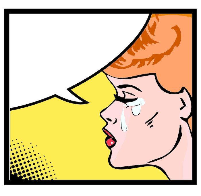 Cuadro en lienzo ilustraci n vectorial de una mujer - Cuadros pop art comic ...