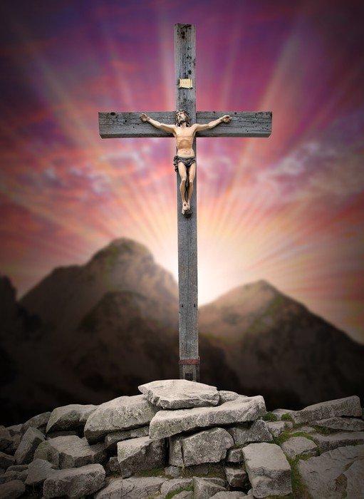 cuadro en lienzo jesucristo en la cruz • pixers® - vivimos para