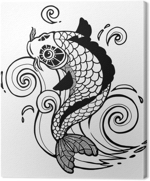 Cuadro en lienzo koi fish pixers vivimos para cambiar for Vinilos para murallas