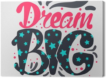 Cuadro en Lienzo La motivación y el sueño letras Concept