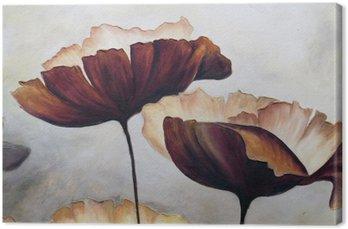 Cuadro en Lienzo La pintura abstracta de la amapola