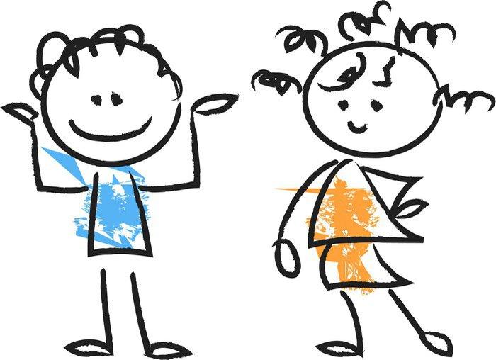 Cuadro En Lienzo Lindo Caricatura De Niños Felices