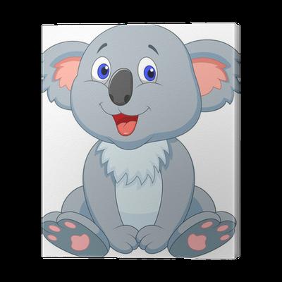 Cuadro en Lienzo Lindo koala de dibujos animados  Pixers