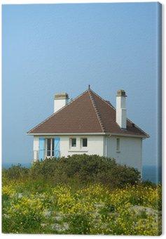Cuadro en Lienzo Maison sur les falaises du Cap Gris Nez