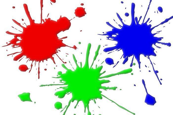 cuadro en lienzo manchas de pintura rgb • pixers® - vivimos para