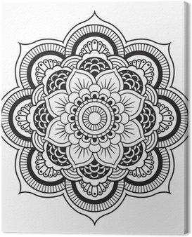 Cuadro en Lienzo Mandala. Patrón de ornamento de la Ronda
