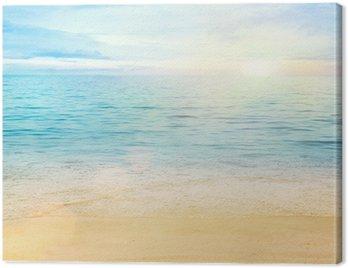 Cuadro en Lienzo Mar y arena de fondo
