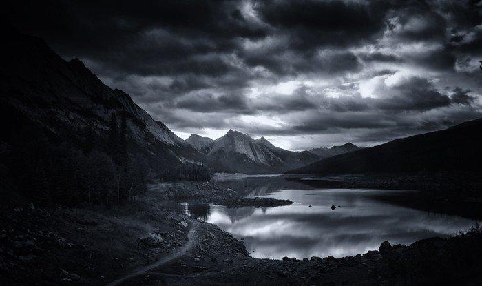Cuadro en Lienzo Medicine Lake, Parque Nacional Jasper - Temas