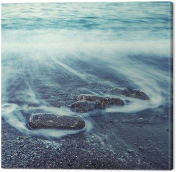 Cuadro en Lienzo Minimalista Seascape. Salida del sol de la Costa.