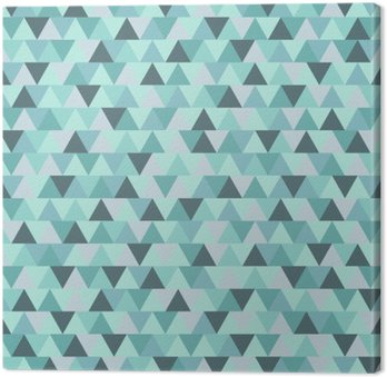 Cuadro en Lienzo Modelo abstracto del triángulo de Navidad, azul gris de fondo de vacaciones de invierno geométrica