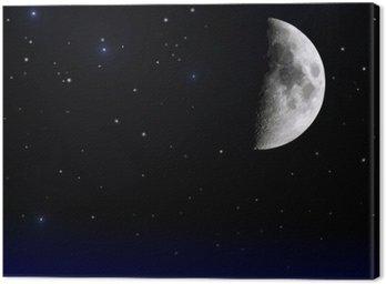 Cuadro en Lienzo Mond am Nachthimmel